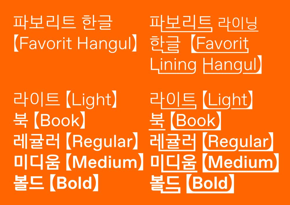 ABC Favorit Hangul Lining