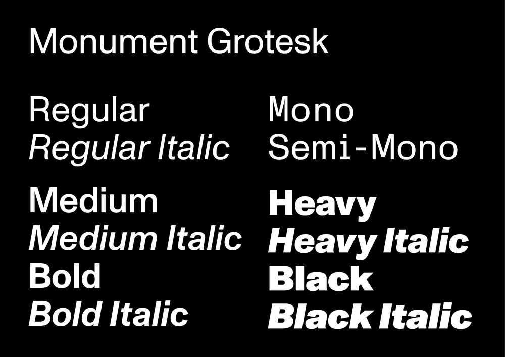 ABC Monument Grotesk Semi-Mono