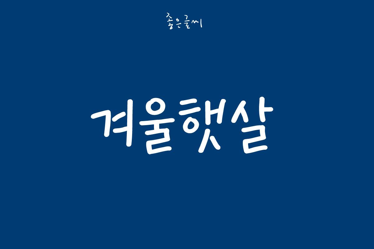 GF 겨울햇살