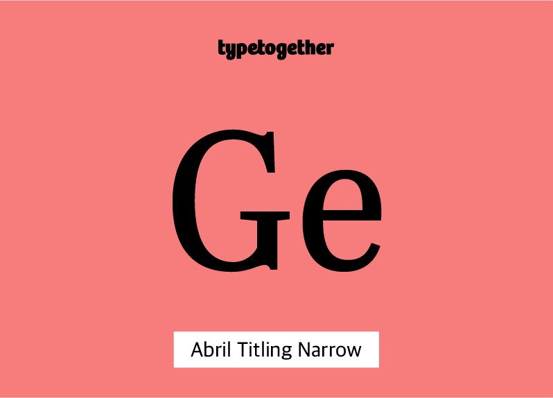 Abril Titling Narrow