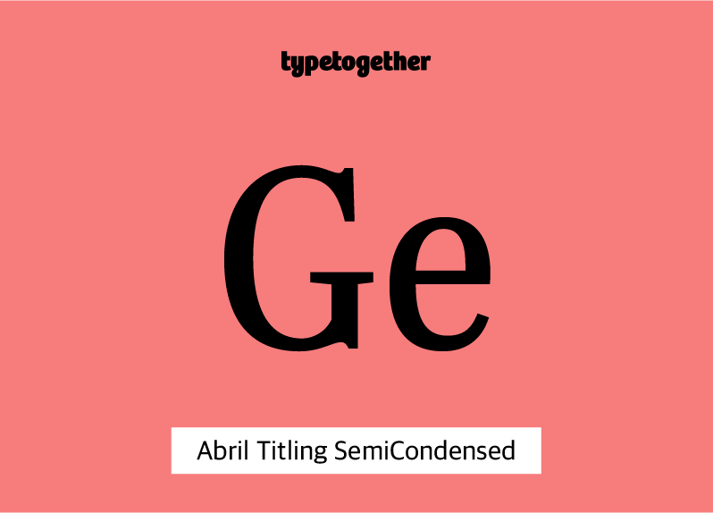 Abril Titling Semi-Condensed