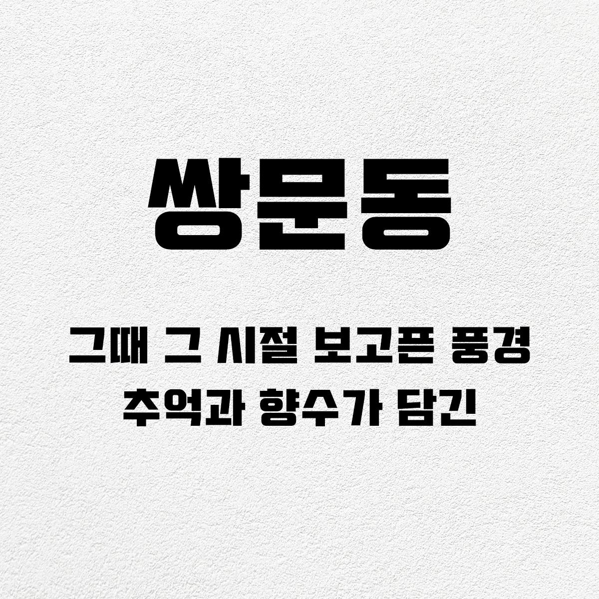 타이포_쌍문동