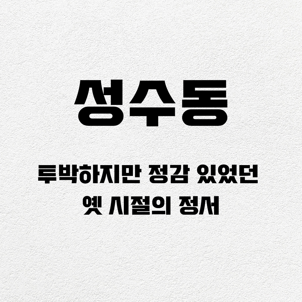 타이포_성수동
