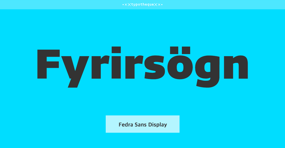 Fedra Sans Display Std