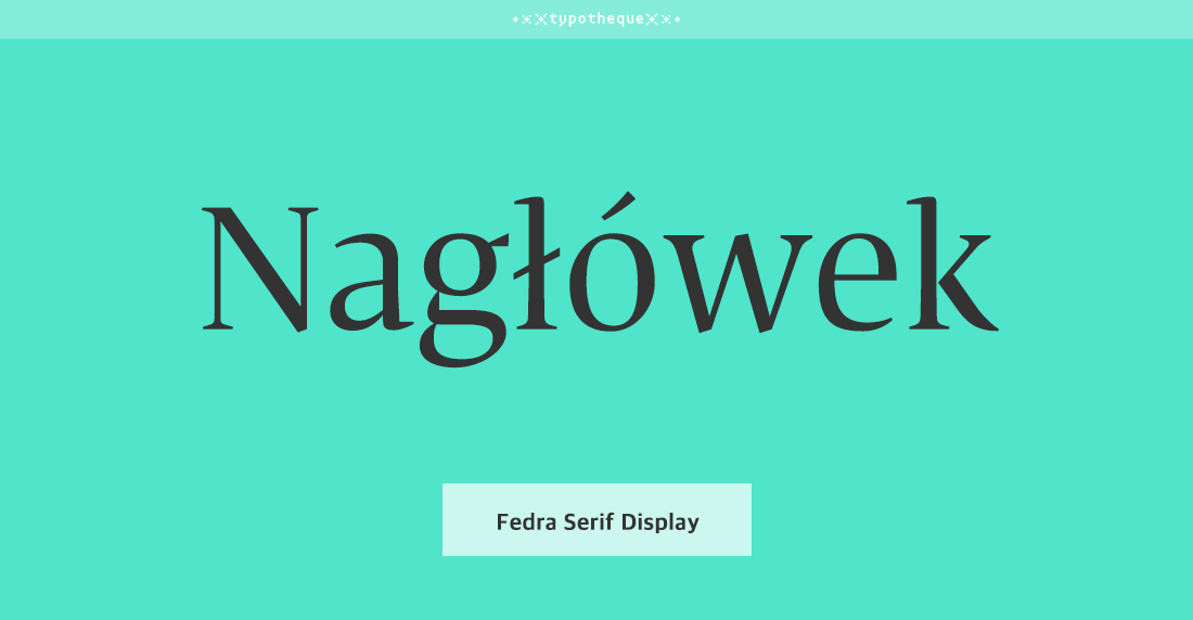 Fedra Serif Display Std